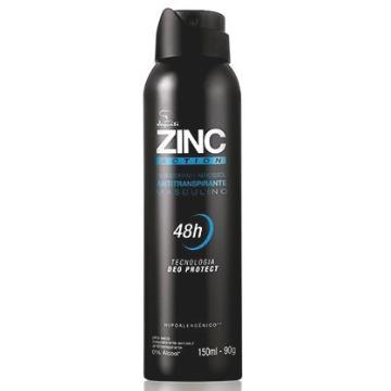 Desodorante Antitranspirante Masculino Aerossol ZINC Action, 150ml/90g (16108)