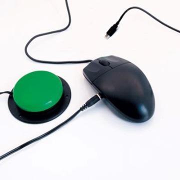 Mouse adaptado para uso com acionador