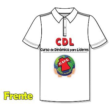 Camiseta Polo CDL - Gola Branca