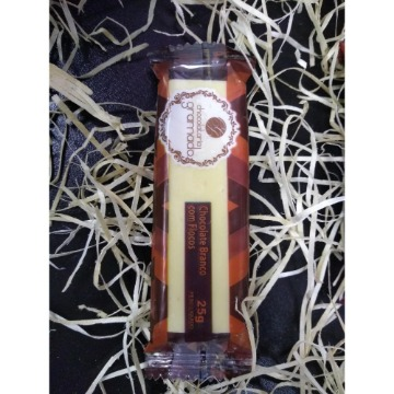 Barrinha de chocolate branco com flocos