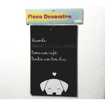 Placa Decorativa - Abrace Seu Cachorro