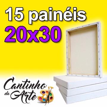 Painel Para Pintura 20x30 P/ Tinta A Óleo Ou Acrilica - 15un