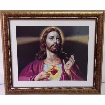 Gravura 45x39 `Jesus` com Moldura