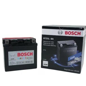 BATERIA BTZ5L-BS BIZ 125 2009 E/D BROSS 150 2009/FAN 125/150 2009 E/D/CRF BOSCH