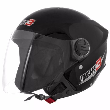 CAPACETE NEW LIBERTY THREE PRETO TAM 58 TORK