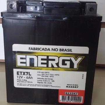 BATERIA ETX-7L-6A SELADA TITAN 150 05/08 TORN/FALCON/BIZ 125/FAZER/CB 300 ENERGY