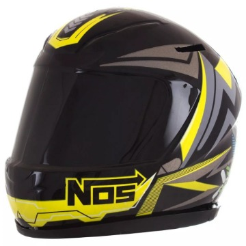 CAPACETE MINI COFRE NOS ABSTRACT PRETO/AMARELO TORK