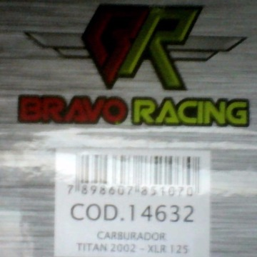CARBURADOR TITAN 02/04/FAN COMPL BRAVO RACING