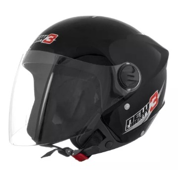 CAPACETE NEW LIBERTY THREE PRETO FOSCO TAM 58 TORK