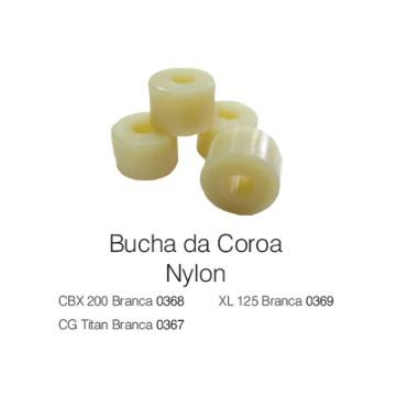 BUCHA COROA CUBO TRASEIRO NYLON CG TIT   JG WB COMPONENTES