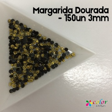Margarida Dourada - 150un 3mm