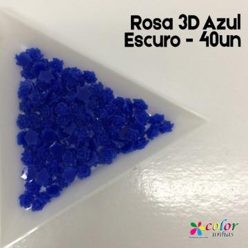 Rosa 3D Azul Escuro - 40un