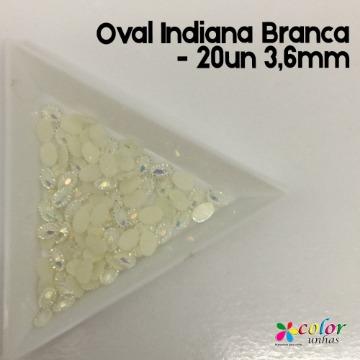 Oval Indiana Branca - 20un 3,6mm