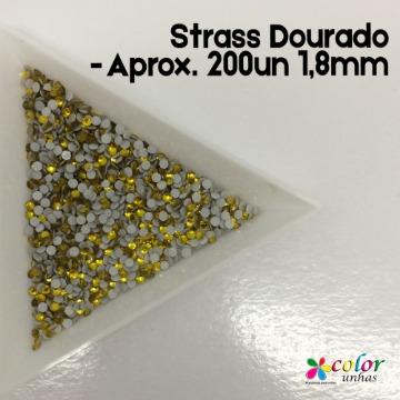 Strass Dourado - Aprox. 200un 1,8mm