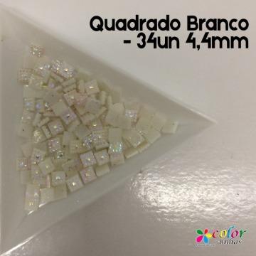 Quadrado Branco - 34un 4,4mm