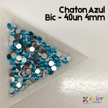 Chaton Azul Bic - 40un 4mm