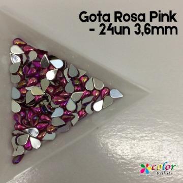 Gota Rosa Pink - 24un 3,6mm