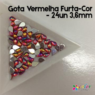 Gota Vermelha Furta-Cor - 24un 3,6mm
