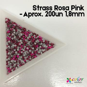 Strass Rosa Pink - Aprox. 200un 1,8mm