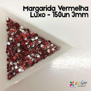 Margarida Vermelha Luxo - 150un 3mm