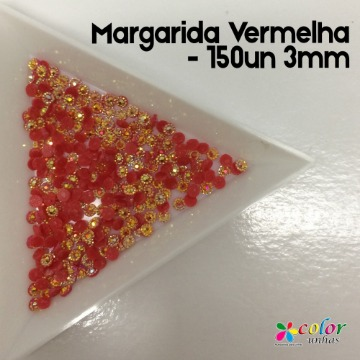 Margarida Vermelha - 150un 3mm