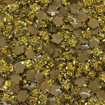Rosa 3D Dourada 40un