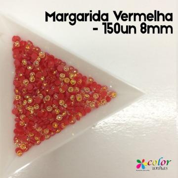Margarida Vermelha - 150un 8mm