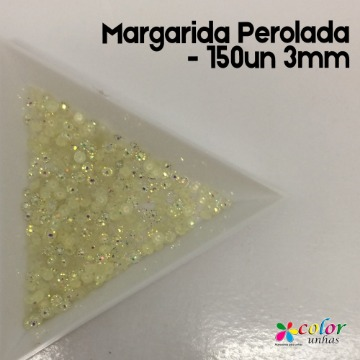 Margarida Perolada - 150un 3mm