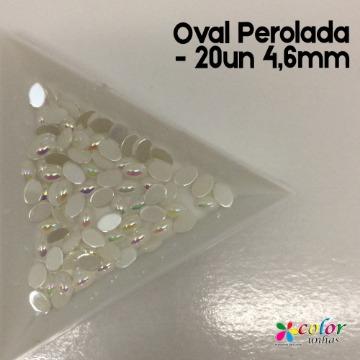 Oval Perolada - 20un 4,6mm