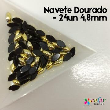 Navete Dourado - 24un 4,8mm