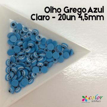 Olho Grego Azul Claro - 20un 4,5mm