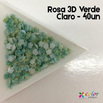 Rosa 3D Verde Claro - 40un