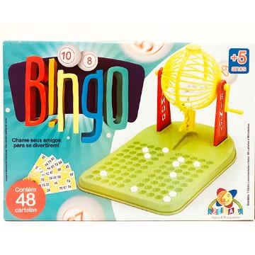 Jogo bingo plástico 48 cartelas