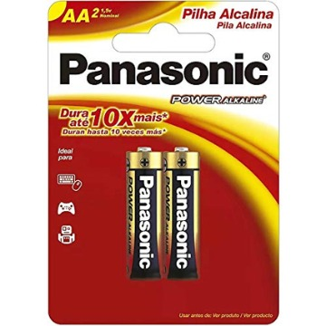 PILHA PANASONIC ALCALINA AA 2UNIDADE