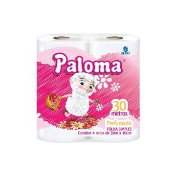 Papel Higienico Paloma Fsimples 30mts C/4 Perfumado