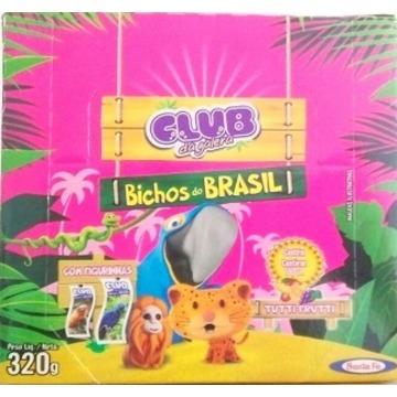 Chicle Tutti Frutt Santa Fe Bichos Do Brasil Caixa com 100 Unidades