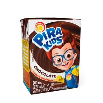 Bebida Láctea Pirakids Sabor Chocolate 200ml