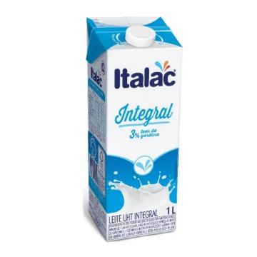 Leite Longa Vida Integral 1 Litro com tampa Italac 1 Unidade