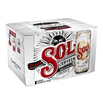 Cerveja Sol Pilsen Lata 310ml Com 12 Unidades
