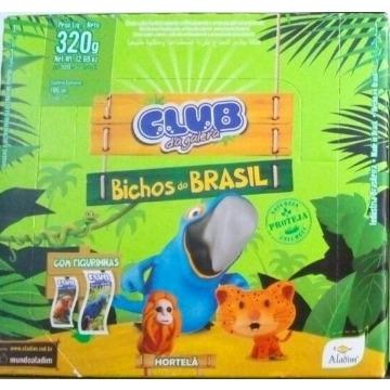 Chicle Hortelã Santa Fe Bichos Do Brasil Caixa com 100 Unidades
