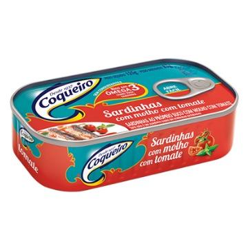Sardinha com Molho de Tomate Coqueiro Pescados Lata 25g