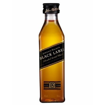 Whisky Johnnie Walker Black Label 50ml Miniatura Original - 1 Unidade