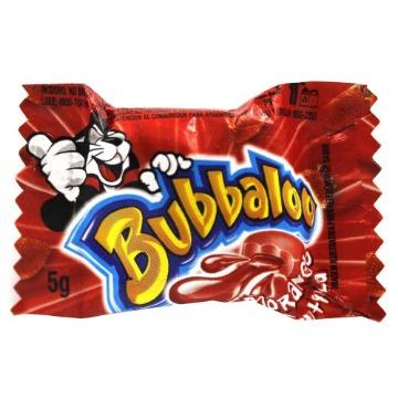 Chiclete Bubbaloo Morango Adams - 1 Unidade