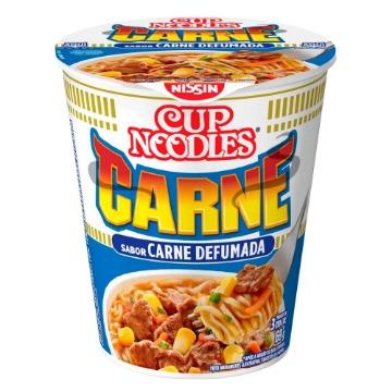 Macarrão Instantâneo Cup Noodles Sabor Carne Defumada com 69g