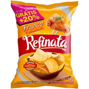 Batata lisa Refinata sabor Frango a passarinho 54g