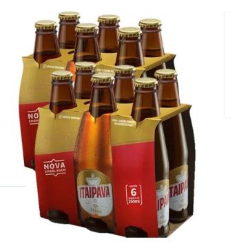 Cerveja ITAIPAVA Long Neck 250ml 12 Unidades Gelada