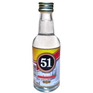 Cachaça Miniatura 51 50ml - 1 Unidade