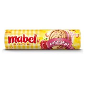 Biscoito Doce Recheado Mabel Morango Pacote 140G