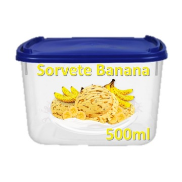 Sorvete de Banana SKY Pote 500ml 1 Unidade