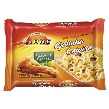 Macarrão Instantâneo Liane Sabor De Galinha Caipira 80g